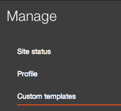 Manage templates link